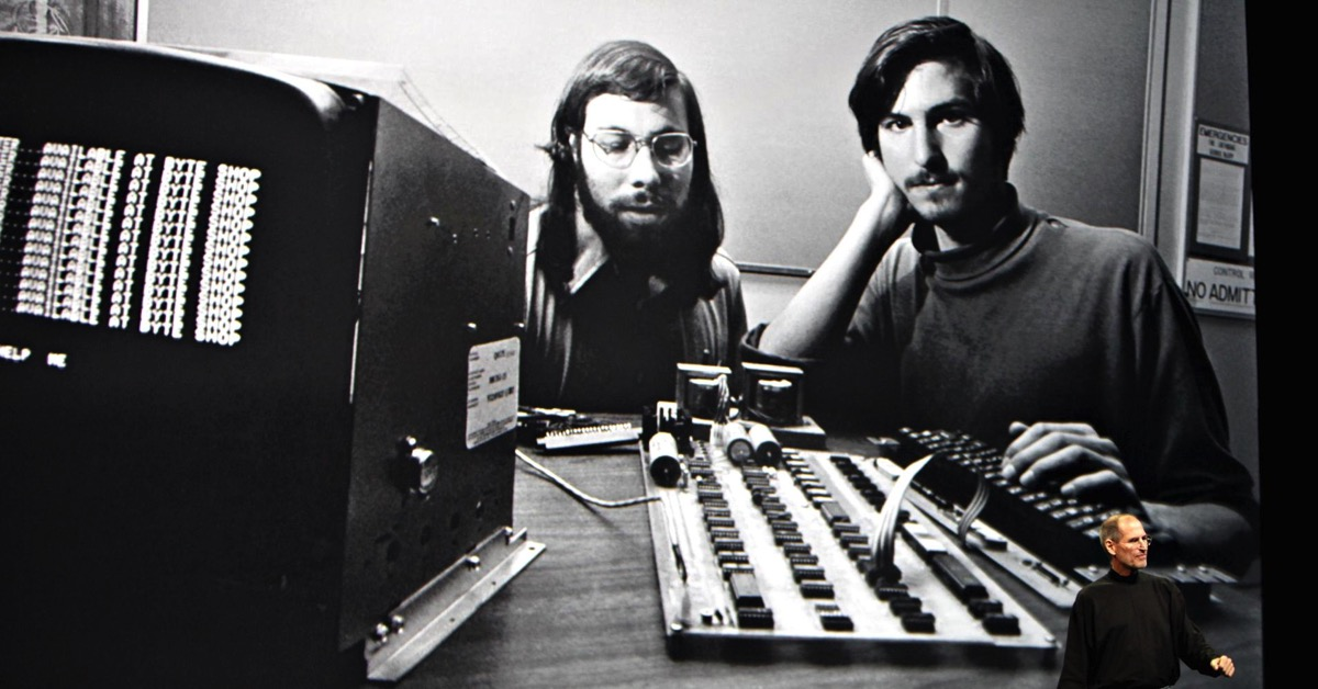 Steve Jobs keynote screen grab